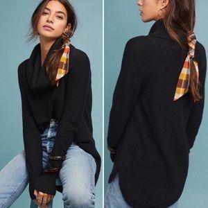 Anthropologie Brenta Black Cowl Neck Sweater